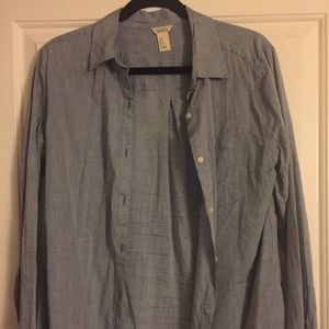 F21 Blue/Grey Dress Shirt (MEDIUM)